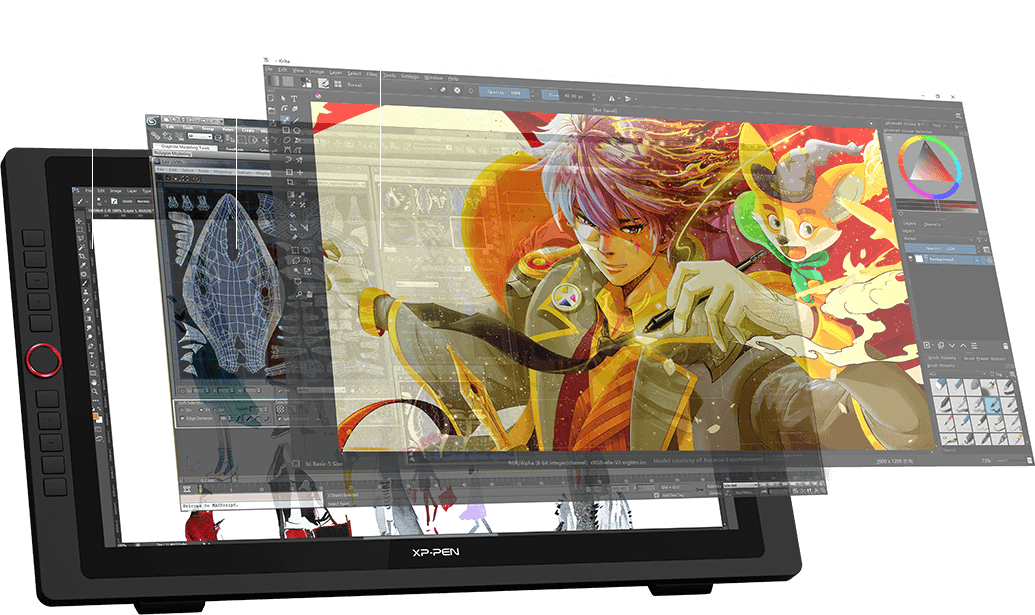 XP-Pen Artist 22R Pro comes with a large 22inch display and features 1920 x 1080 resolution