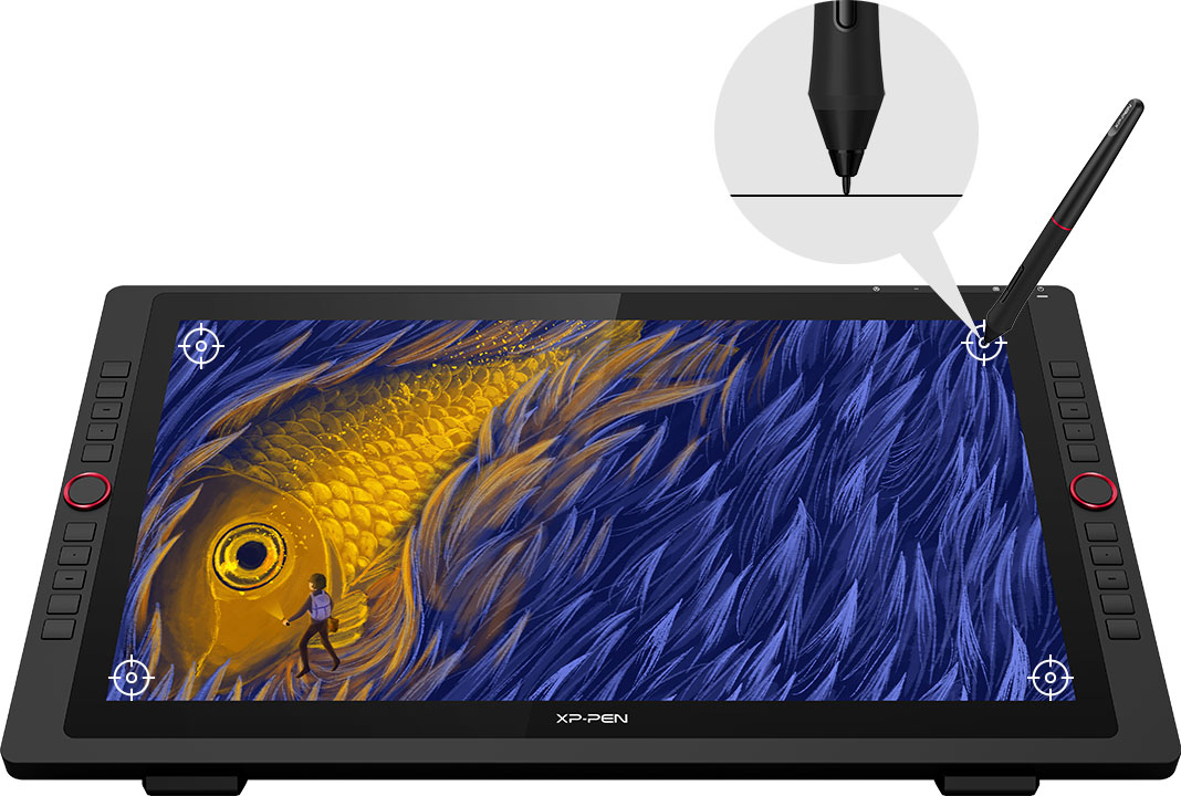 XP-Pen Artist 22R Pro Graphic Pen Display lets you draw with a more precise cursor positioning even at the four corners