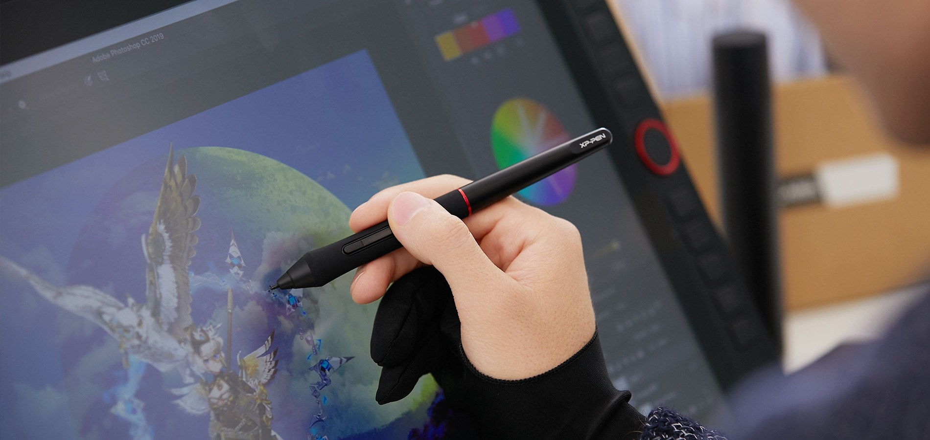 digital writing , drawing and painting on XP-Pen Artist 22R Pro Graphic Pen Display
