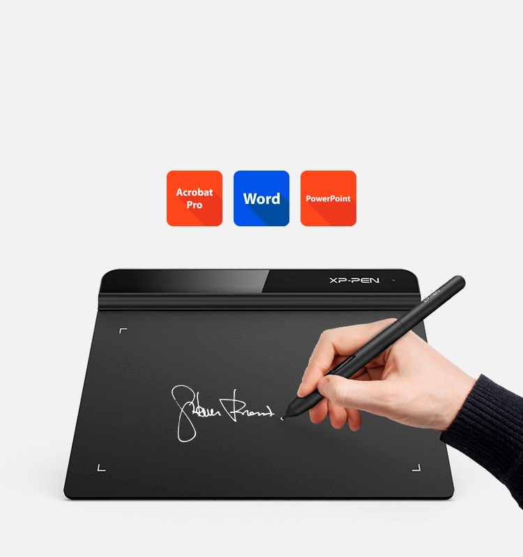 XP-Pen Star G640 portable art tablet use for Business Signature
